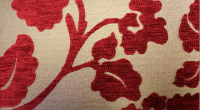Coronation Floral Ruby Fabric