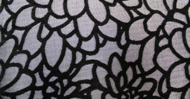 Crown Modern Floral Graphite Fabric