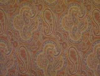 Mac Burnt Orange Natural Wool Tweed Fabric