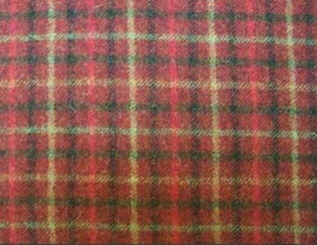 Balmoral Claret Natural Wool Tweed Fabric