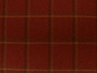 St. Andrew Claret Natural Wool Tweed Fabric