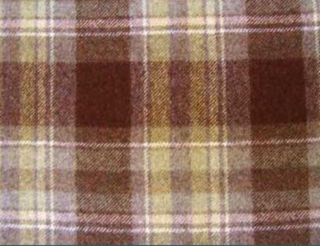 Highland Heather Natural Wool Tweed Fabric