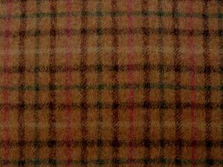 Balmoral Pine Natural Wool Tweed Fabric