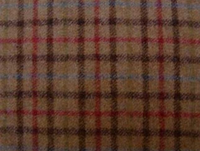 Balmoral Rope Natural Wool Tweed Fabric