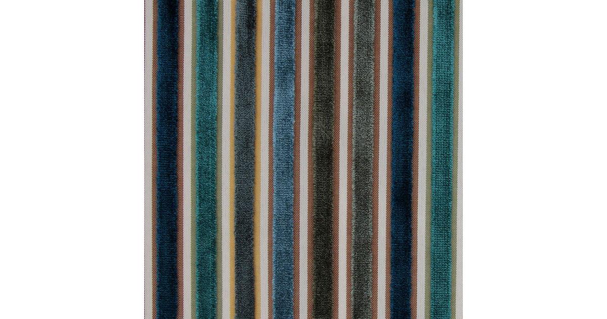 Riga Thin Stripe Velvet Fabric 37