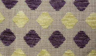 Crystal Diamond Aubergine Fabric