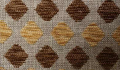 Crystal Diamond Chocolate Fabric