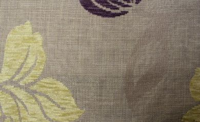 Crystal Floral Aubergine Fabric