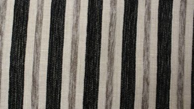 Crystal Stripe Black Fabric