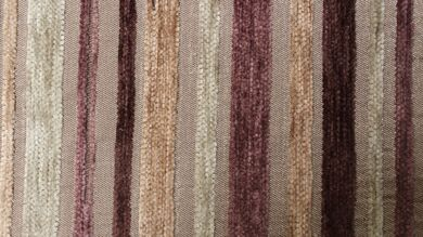 Argent Stripe Cocoa Fabric