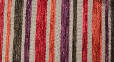 Argent Stripe Flame Fabric