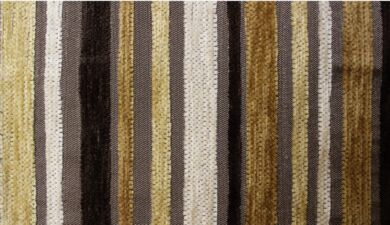Argent Stripe Gold Fabric