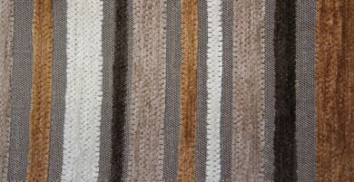 Argent Stripe Mocha Fabric