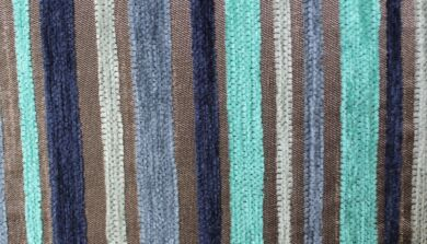 Argent Stripe Turquoise Fabric