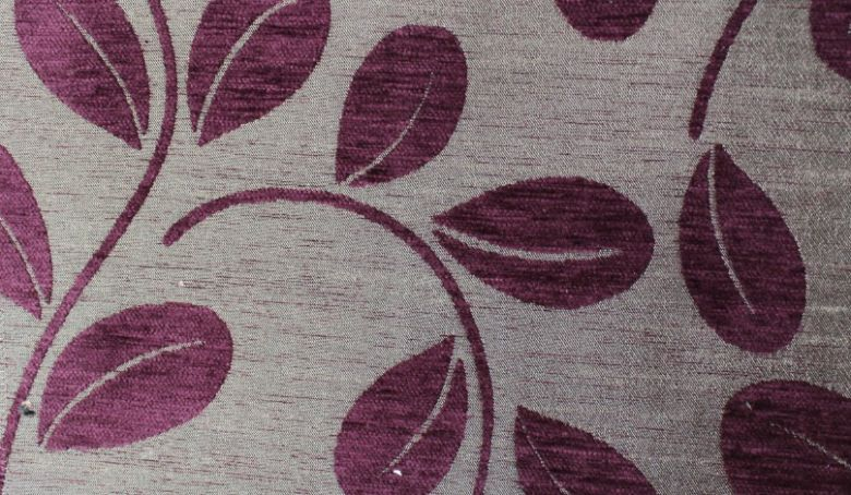 Orchard Leaf Aubergine Fabric