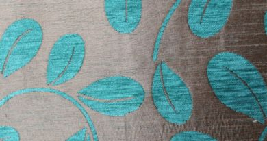 Orchard Leaf Turquoise Fabric