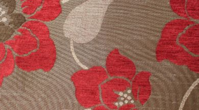 Quartz Floral Flame Fabric