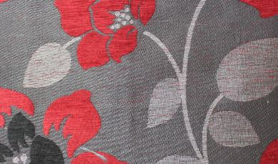 Quartz Floral Wine Fabric
