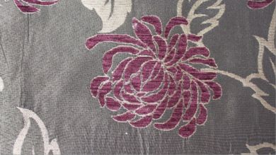 Balcony Floral Aubergine Fabric