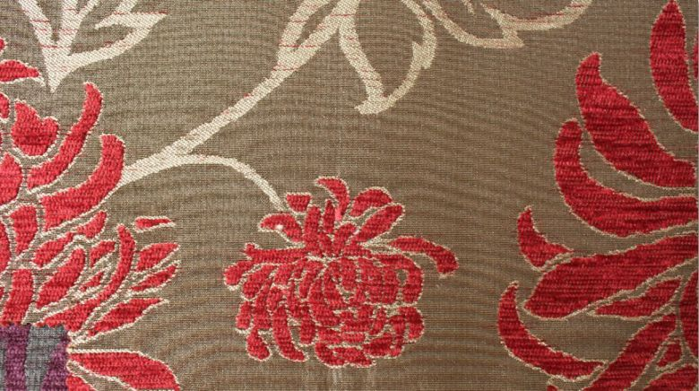 Balcony Floral Flame Fabric
