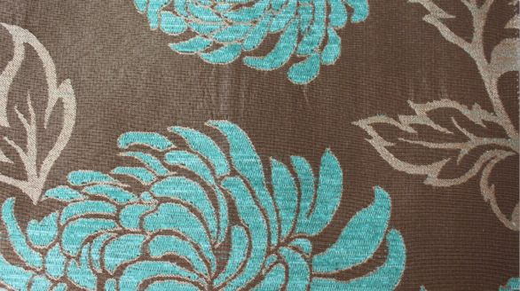 Balcony Floral Luxury Chenille Fabric