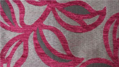 Patio Leaf Fuchsia Pink Fabric