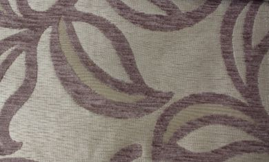 Patio Leaf Mauve Fabric