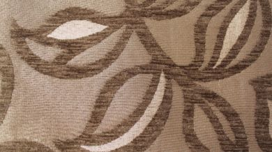 Patio Leaf Mocha Fabric