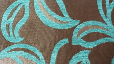 Patio Leaf Turquoise Fabric