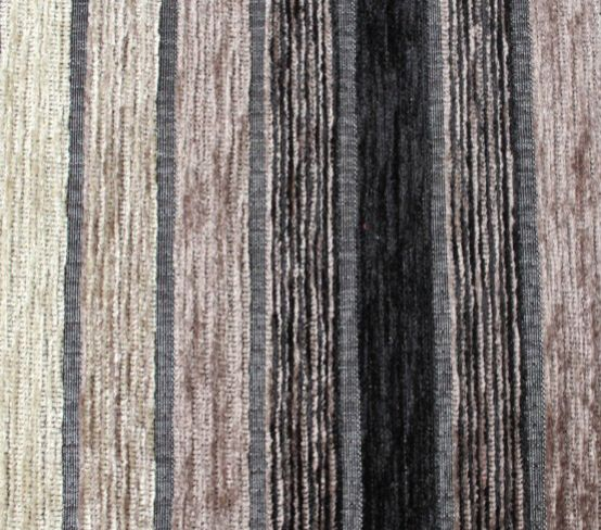 Vista Stripe Black Fabric