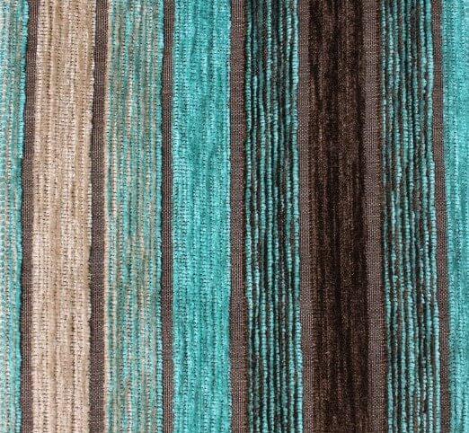Vista Stripe Turquoise Fabric
