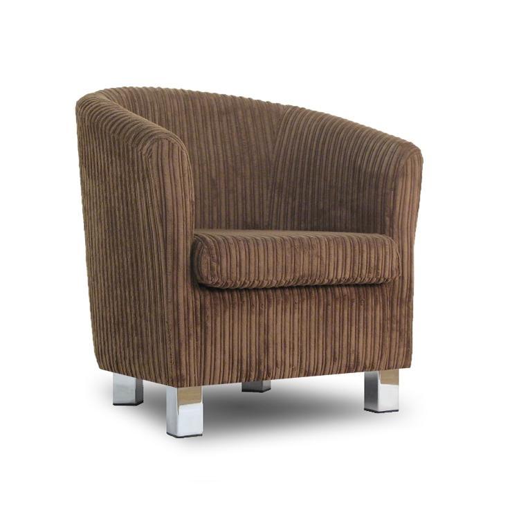 Small fabric sofa tub chair jumbo lizard chrome legs for Small fabric chair