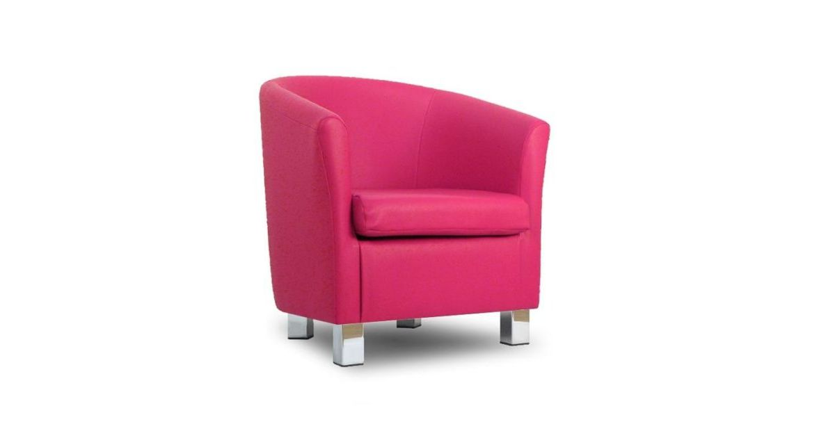 small leather sofa tub chair fuschia pink chrome legs 17210 | small leather sofa tub chair fuschia 1200x630 ffffff v aabd240d