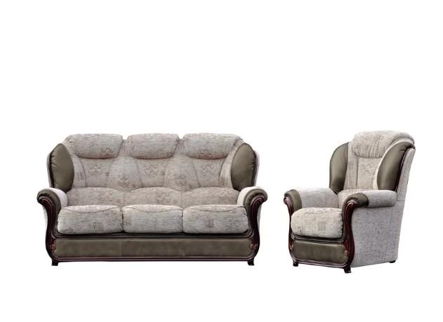 Groovy Texas Sofa Set 3 1 Genuine Italian Leather Fabric Sofa Suite Theyellowbook Wood Chair Design Ideas Theyellowbookinfo